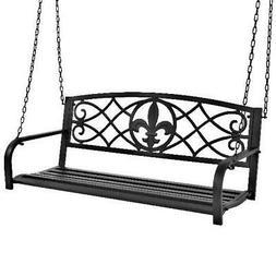 metal hanging patio porch swing fleur de
