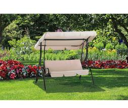Outdoor Hammock Swing Loveseat With Canopy Patio Furniture 3