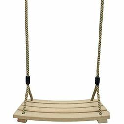Outdoor Indoor Curved Wooden Swing Chair For Children Adults