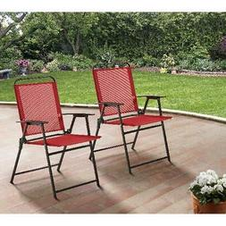 Outdoor Lawn Patio Folding Chairs Home Deck Porch Camping Po