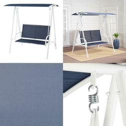 Mainstays Outdoor Patio 2 Person Canopy Porch Swing, Blue An