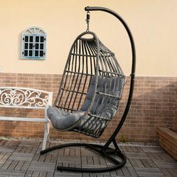 Swing Hanging Egg Wicker Chair Outdoor Garden Patio Hammock