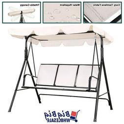 Patio Swing Chair 3-Person Seat Lounge Outdoor Canopy Hammoc