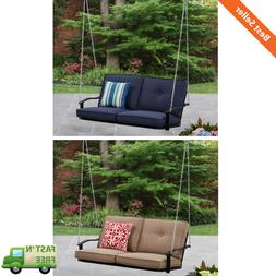Outdoor Patio Porch Swing w/ Cushions 2 Person Swinging Seat