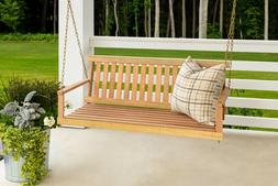 outdoor porch patio swing cypress wood natural