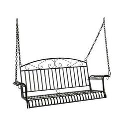 Outdoor Porch Swing Chair 2-Person Seat Hanging Bench Metal