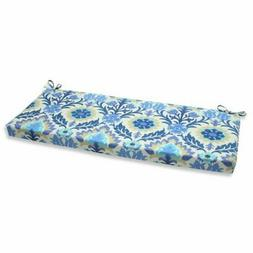 Pillow Perfect Outdoor Santa Maria Bench Cushion, Azure