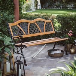 outdoor wooden garden bench park patio backyard