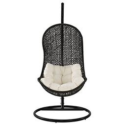 The Parlay Rattan Outdoor Patio Swing Chair Set