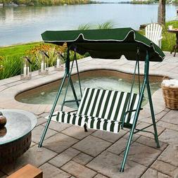 Patio Canopy Swing Glider Hammock Loveseat Cushioned Steel F