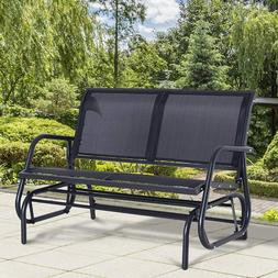 Outsunny Patio Double 2 Person Glider Bench Rocker Porch Lov