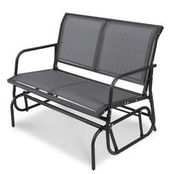 Patio Garden Glider 2 Person Swing Bench Rocking Chair Porch