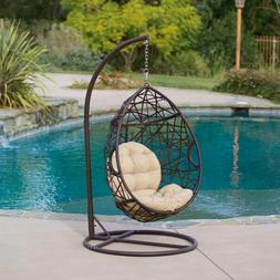 PATIO HANGING CHAIR Outdoor Wicker Basket Stand Porch Swing