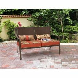 Patio Loveseat Bench Garden 2 Person Cushions Seat Outdoor F