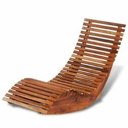 vidaXL Patio Outdoor Rocking Chair Acacia Wood Porch Rocker