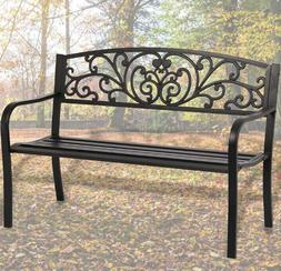 Patio Park Garden Bench Porch Path Chair Outdoor Deck Steel