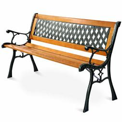 "Giantex 49 1/2"" Patio Park Garden Bench Porch Path Chair Out"