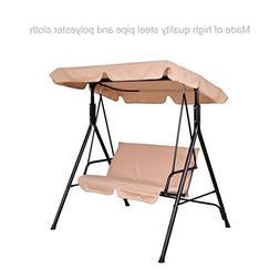koonlert14 Patio Porch 2 Person Swing Hammock Cushion Seat S