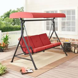 Patio Porch Swing Bed Canopy Chair Outdoor Lounge Hammock 3-