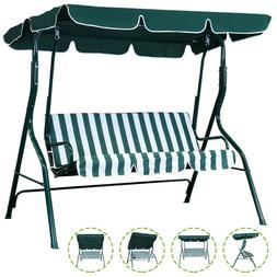 Patio Porch Swing Chair Canopy Outdoor Lounge 3-Person Seat