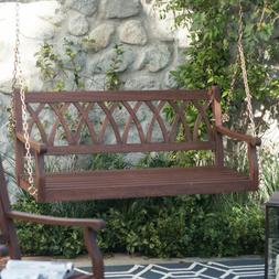 Patio Porch Swing Eucalyptus Wood Stylish Garden Furniture 4