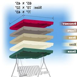 """Patio Swing Canopy Replacement Top Cover Porch Outdoor 65""""x4"""