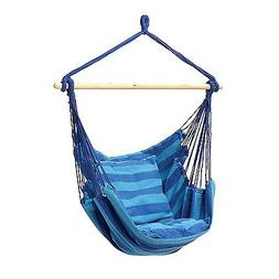 Patio Swing Hanging Rope Chair  Seat Blue/Teal Outdoor Campi