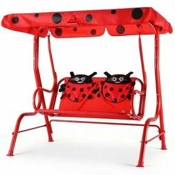 Patio Swing Porch 2 Person Kids  Bench with Canopy Furniture