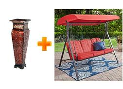 Mainstay* Patio Three Person Forest Hills Steel Porch Swing