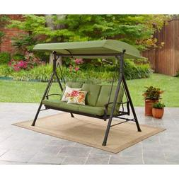Mainstay* Patio Three Person SteelCanopy Porch Swing Plush C
