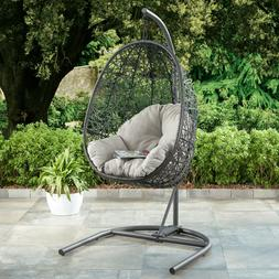 PATIO WICKER HANGING CHAIR Swing Stand Porch Outdoor Furnitu