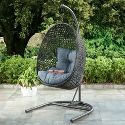PATIO WICKER HANGING CHAIR Stand Porch Swing Outdoor Furnitu