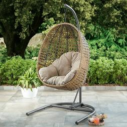 PATIO WICKER HANGING Egg Nest CHAIR Stand Porch Swing Outdoo