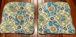 Pillow Perfect Outdoor/Indoor Tufted Seat Cushions . Monaco