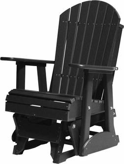LuxCraft Poly 2' Adirondack Outdoor Porch Glider  *17 Colors