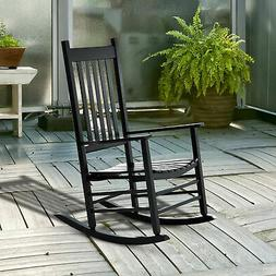 Porch Rocking Chair - Outdoor Patio Wooden Rocking Chair - B
