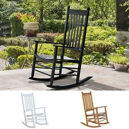 Outsunny Porch Rocking Chair Solid Wood Home Traditional Ben