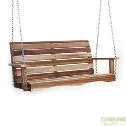 Porch Swing 4 Ft Red Cedar Crafted w/Mounting Chain Kit Cont