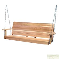 Porch Swing 5 Ft Red Cedar Crafted w/Mounting Chain Kit Cont