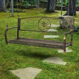 porch swing bench chair patio metal hanging