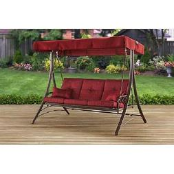 Porch Swing, Mainstays Callimont Park 3-Seat Canopy Bed, Red