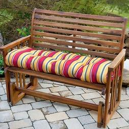 """Porch Swing Cushion Glider Bench Seat 44"""" Tufted Padded Pati"""