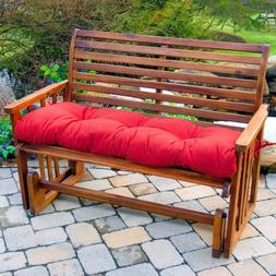 "Porch Swing Cushion Glider Bench Seat 52"" Tufted Padded Outd"