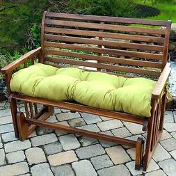 """Porch Swing Cushion Glider Bench Seat 52"""" Tufted Padded Pati"""