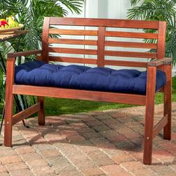"""Porch Swing Cushion Glider Bench Seat 52"""" Tufted Padded Outd"""