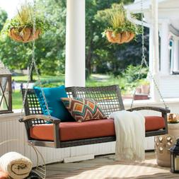 Porch Swing for 2 with Cushion Patio Outdoor Yard Garden Sea