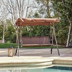 Porch Swing Glider Outdoor Chair Tilt UV Resistant 3 Seater