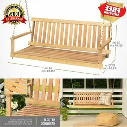 porch swing natural wooden 4ft wood patio