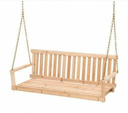 porch swing outdoor wooden hanging 4 ft