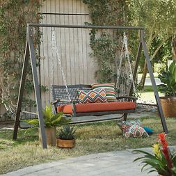 Porch Swing Stand Universal A-Frame Durable Metal 600 Lbs Ca